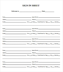 sample open house sign in sheet 12 documents in pdf