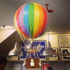 hot air balloon decorations large hanging air balloon decoration rainbow