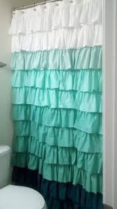 victorian style bathroom layered lace shower curtain distressed