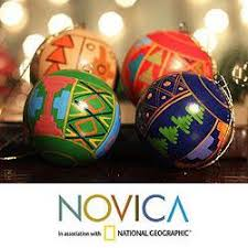peruvian ornaments set of 4 ceramic inca