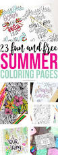 23 fun and free summer coloring pages printable crush