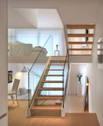 Home Interior Staircase Design by Modern Transparent Staircase In White Interior More Modern