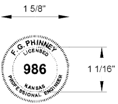 Architect Signature Seal And Signature Kansas State Board Of Technical Professions