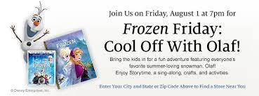 Barnes Enterprises Inc Frozen Friday Cool Off With Olaf At Barnes U0026 Noble Tonight