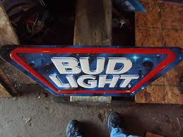 bud light lighted sign brewery antique price guide