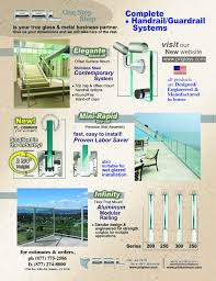 Handrail Manufacturer Stand Off Handrail System Archives Prl Architectural Glass And