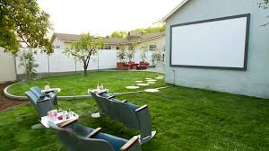 Backyard Theater Ideas Backyard Makeover With Outdoor Theater Hgtv