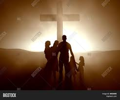 family cross jesus christ image u0026 photo bigstock