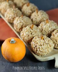 pumpkin spice krispie treats emily bites