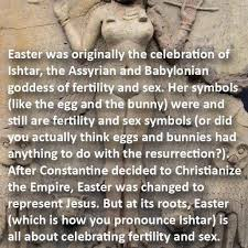 Pagan Easter Meme - every year on christmas and easter my friends and family think