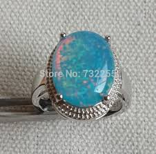 opal stone rings images Cool big blue fire opal stone ring for men in rings from jewelry jpg