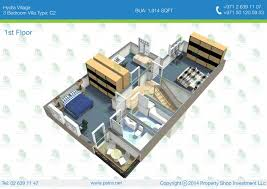 Marina Square Floor Plan 3br Villa Type C2 Bua 177 88 Sqm 1 914 Sqft 1 Floor Plan U2013 Hydra