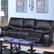 Contemporary Reclining Sofa With Topstitch by Thad Dual Power Reclining Sofa Wayfair