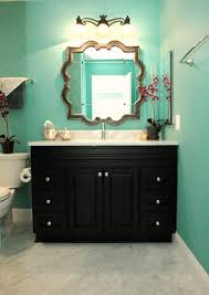 turquoise bathroom black white and turquoise bathroom colorful bathrooms from hgtv