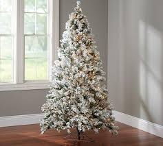 flocked tree white flocked lighted tree