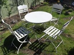 outdoor iron table and chairs wrought iron table and chairs ebay