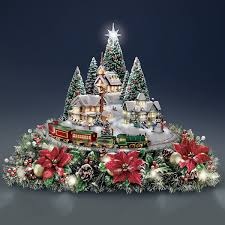 amazon com thomas kinkade christmas village floral centerpiece