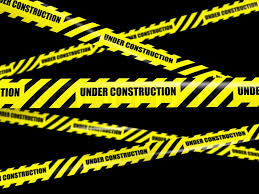 black and yellow ribbon construction concept background yellow warning caution