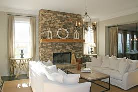 elegant traditional living room design with natural stone