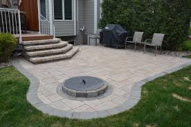 paver patios with fire pit cornered circular stone squared natural