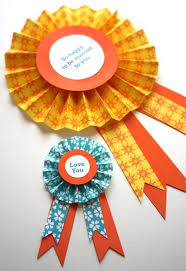 paper ribbons diy paper medallions for the 1st place blue ribbons to top the
