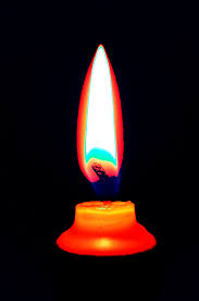 candle flame has a small surface area