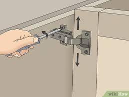 kitchen corner cabinet hinge adjustment 3 ways to adjust style cabinet hinges wikihow