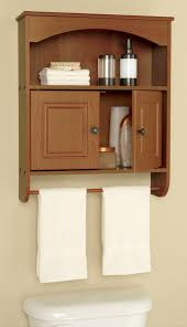 Towel Bathroom Storage Classic Wall Mounted Lacquered Oak Wood Bathroom Cabinet With