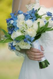 wedding flowers blue and white one stop wedding blue and white wedding bouquet