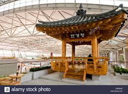 incheon international airport interior south korea stock photo