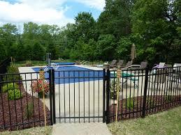 swimming pool fancy backyard landscaping design using black
