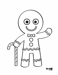 gingerbread man colouring pages with gingerbread man coloring
