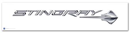 stingray corvette logo c7 corvette stingray logo poster chevymall