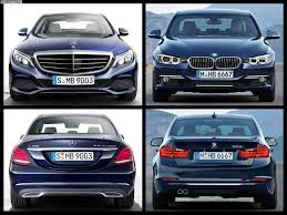 bmw 3 series or mercedes c class photo comparison 2015 mercedes c class w205 vs bmw 3 series f30