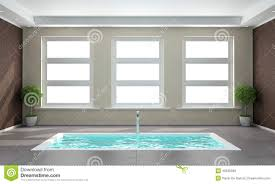 Sunken Bathtub Contemporary Bathroom With Sunken Bath Stock Illustration Image