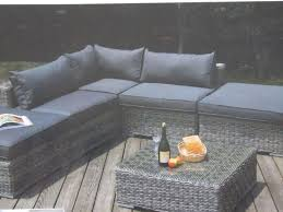 Grey Wicker Patio Furniture by 6 Pc New Furniture Sectional Patio Outdoor Wicker Grey Black And