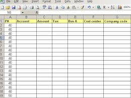 Journal Entry Template Excel Sap E Mory Copy Or Upload Excel Journal Entry To Sap