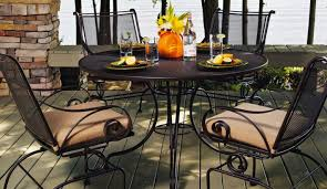Wrought Iron Patio Bistro Set Table N Wonderful Bistro Table Chairs Belleville 3 Piece Padded