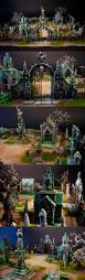 halloween villages for sale very detailed miniature cemetery great ideas and scaling