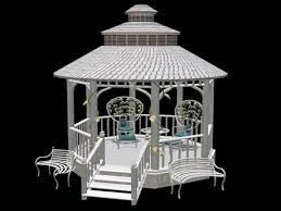 white gazebo second marketplace cosy garden gazebo white
