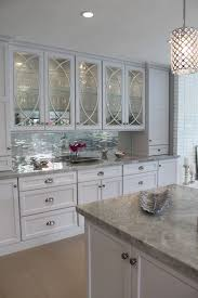 Kitchen With Glass Cabinet Doors Decorative Glass Kitchen Cabinets Modern Iagitos