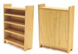 Bookcase Maple Tall Maple Bookshelf Happy Bungalow