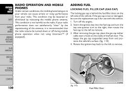 Fiat Freemont Specs Radio Operation And Mobile Phones Adding Fuel Fiat Freemont