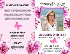 free wedding program templates free obituaries church bulletins