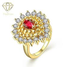 cheap gold rings images Gold color cheap price in india bohemia style water drop design jpg