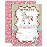 amazon com heart my horse invitation gatefold 8 invites
