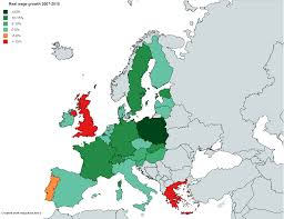 Switzerland Map Europe by 2007 2015 Real Wage Growth In Eu Minus 5 Countries Plus