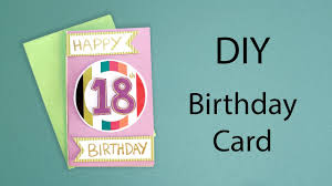 diy 18th birthday card craft with me youtube