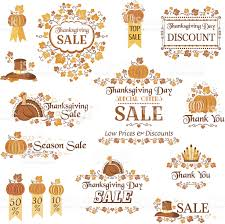 thanksgiving day sale decorative elements stock vector