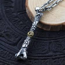 skull link necklace images Men 39 s sterling silver skull bone necklace jpg